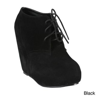 Bonnibel Women's 'Harlem-1' Wrapped Wedge Ankle Boots