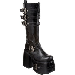Demonia 'CHOPPER-101' Men's Chunky Heel Knee-high Boots