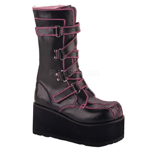 Demonia Women's 'Clash-435' Black Platform Punk Boots