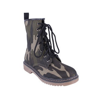 Yoki Women's 'Topic-50' Camo Lace-up Combat Boots