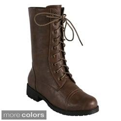 Bonnibel Women's 'Rio-6' Mid-calf Combat Boots