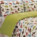 Noah Dinosaur Printed Microplush 3-piece Comforter Set