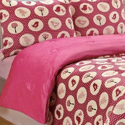 Annie Birds Printed Microplush 3-piece Comforter Set