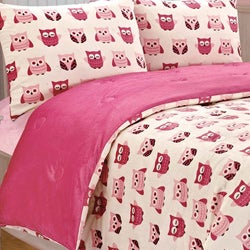 Orly Owl Printed Microplush 3-piece Comforter Set