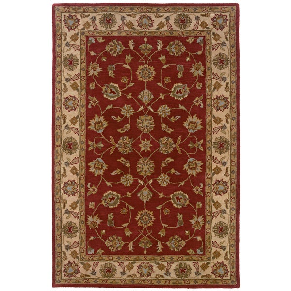 LNR Home Heritage Red/ Ivory Oriental Rug (7'9 x 9'9)