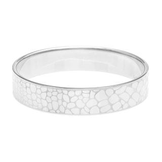 Calvin Klein Stainless Steel Pebbled Design Bangle Bracelet