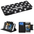 BasAcc Dots/ Black Book-Style MyJacket Wallet Case for HTC One/ M7