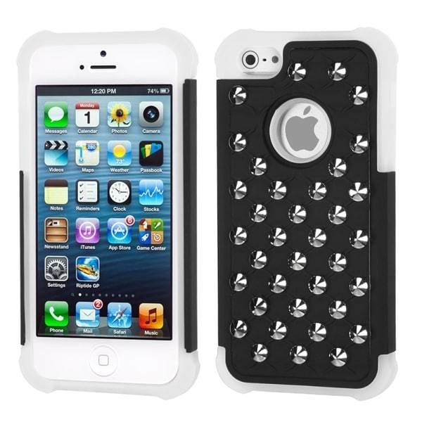 INSTEN Round Studs TotalDefense Phone Case Cover for Apple iPhone 5
