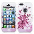 BasAcc Spring Flowers/ White TUFF Hybrid Case for Apple iPhone 5