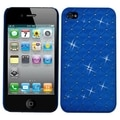 BasAcc Dark Blue Lattice Dazzling Back case for Apple iPhone 4/ 4S