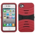 BasAcc Black/ Red Wave Symbiosis Stand Case for Apple iPhone 4/ 4S