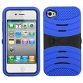 BasAcc Black/ Blue Wave Symbiosis Stand Case for Apple iPhone 4/ 4S