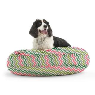 DogSack Round Memory Foam Multi Chevron Stripe Twill Pet Bed