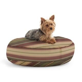 DogSack Round Memory Foam Veranda Autumn Stripe Twill Pet Bed