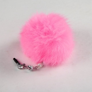 BasAcc Pink Fur Ball Dust Cap Pendant
