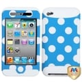 BasAcc Polka Dots/ Solid White TUFF Case for Apple iPod Touch 4