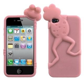 BasAcc Pink Frog Peeking Pets Case Apple iPhone 4/ 4S