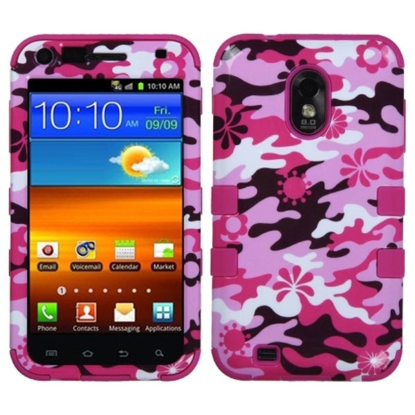 INSTEN Pink Flower Camo/ Hot Pink TUFF Phone Case Cover for Samsung Galaxy S2