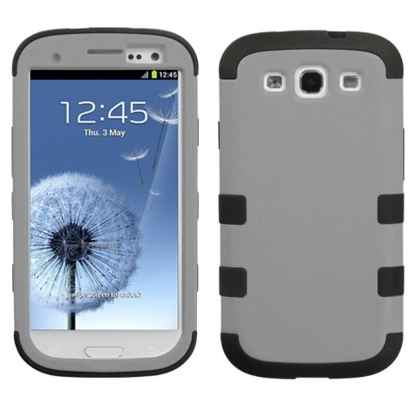 INSTEN Rubberized Grey/ Black TUFF Phone Case Cover for Samsung Galaxy S3
