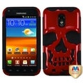 BasAcc Solid Red/ Black Skullcap Case for Samsung Galaxy S2