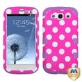 BasAcc White Polka Dots/ Purple TUFF Case for Samsung Galaxy S3