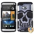 BasAcc Gun Metal Plating/ Black Skullcap Case for HTC One/ M7