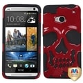 BasAcc Solid Red/ Black Skullcap Case for HTC One/ M7