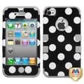 BasAcc Polka Dots/ Grey TUFF Case for Apple iPhone 4/ 4S