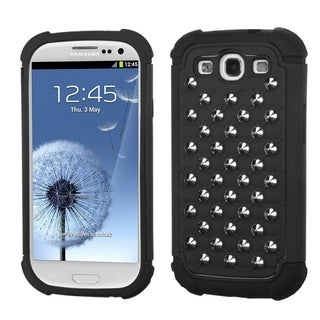 BasAcc Black Silver Studs Lattice Dazzling Case for Samsung� Galaxy S3