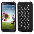 BasAcc Black Silver Studs Lattice Dazzling Case for Samsung Galaxy S4