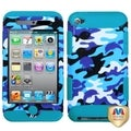BasAcc Aquatic/ Tropical Teal TUFF Hybrid Case for Apple iPod touch 4