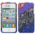BasAcc Rainbow-Lace-Jean Case with Diamonds for Apple iPhone 4/ 4S