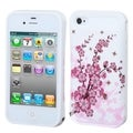 BasAcc Spring Flowers/ White Wallet Back Case for Apple iPhone 4/ 4S