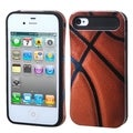 BasAcc Basketball/ Black Wallet Back Case for Apple iPhone 4/ 4S