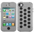 BasAcc Natural Gray/ Black TUFF Hybrid Case for Apple iPhone 4/ 4S