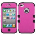 BasAcc Hot Pink/ Black TUFF Hybrid Case for Apple iPhone 4/ 4S