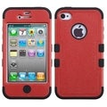 BasAcc Natural Red/ Black TUFF Hybrid Case for Apple iPhone 4/ 4S