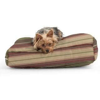 DogSack Rectangle Memory Foam Veranda Autumn Stripe Twill Pet Bed