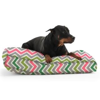 DogSack Rectangle Memory Foam Multi Chevron Stripe Twill Pet Bed