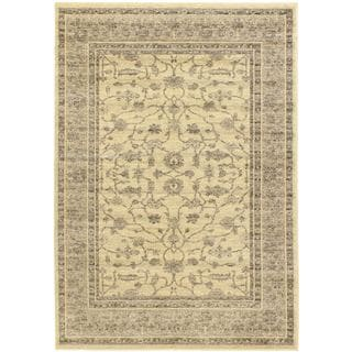 Classic Lotus Cream Floral Rug Rectangular (5'5 x 7'9)
