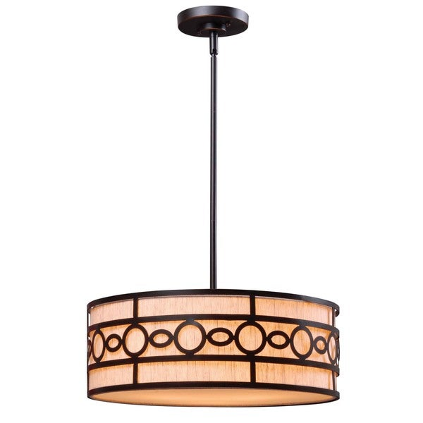 Turin 3-light Black Finish Pendant