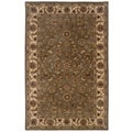 Hand-tufted Oriental Green/ Ivory Wool Rug (8' x 10')