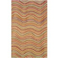 Hand-tufted Stripe Multi Wool Rug (8' x 10')