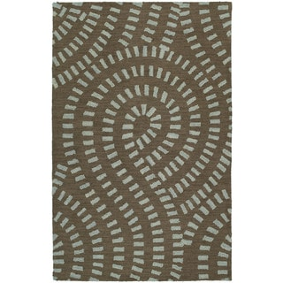 Hand-tufted Zoe Blue Wool Rug (8' x 10')