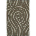 Hand-tufted Zoe Blue Wool Rug (5' x 7'9)