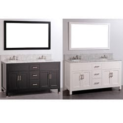 Legion Furniture Mable Top 61-inch Double-sink Bathroom Vanity and Matching Mirror