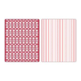 Sizzix Textured Impressions Embossing Folders Peppermint Twists/ Scallops Set