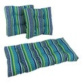 Blazing Needles Spun Poly Settee Outdoor Cushions (Set of 3)