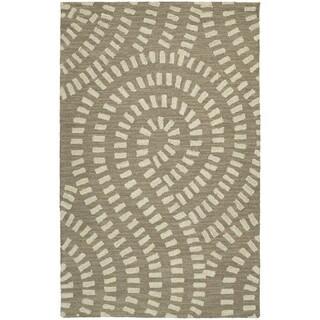 Zoe Light Brown Hand-tufted Wool Rug (8' x 10')