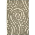 Zoe Light Brown Hand-tufted Wool Rug (8' x 10')